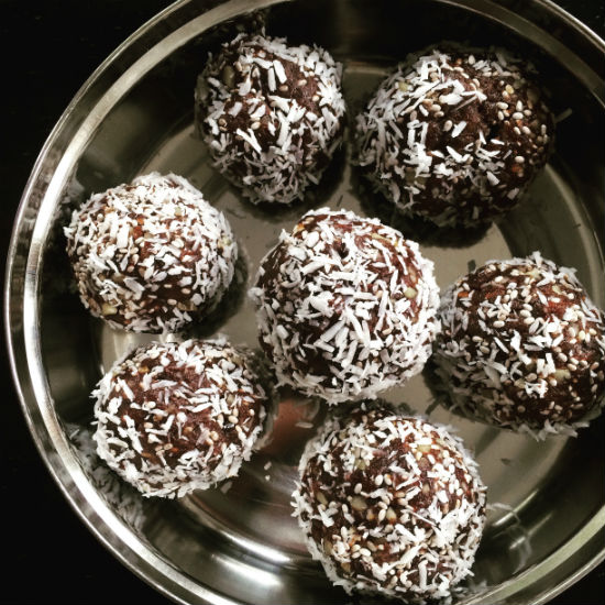 Date Balls with Coconut + Walnuts