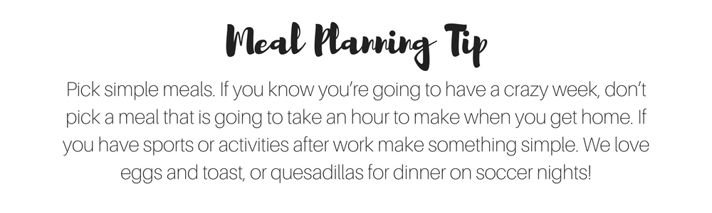 Simple Meal Planning Tips