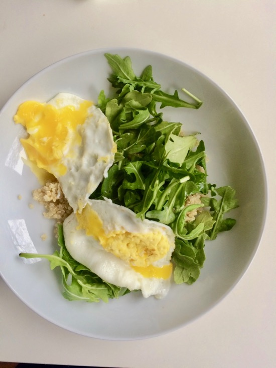 add greens to eggs