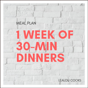 easy meal plans