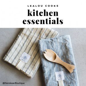etsy kitchen utensils and linen napkins