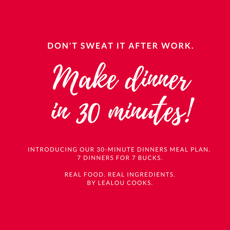 healthy 30 minute dinners